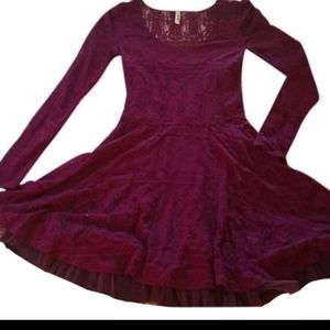 Free People Victorian Loves Lace Dress M